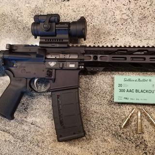 "10.5"" .300 AAC BLK Upper mounted"