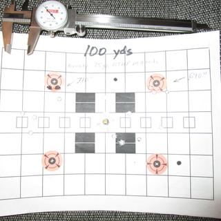100 yard groups, .690 and .710