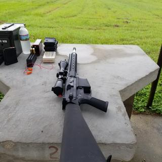 First time out at the range.