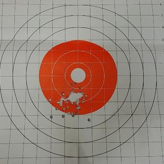 First 60 rounds at the range. Needs a little more adjusting of sights, and me getting used to it!
