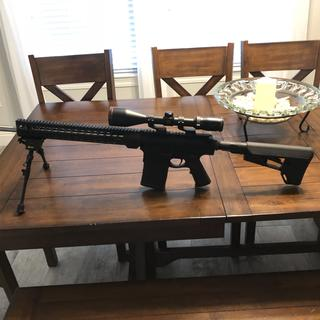 Completed rifle. PSA lower with PSA upper.