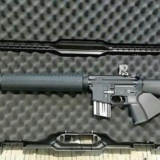 I really love this upper with my CA compliant M16A3 config. It always grabs attention at the range.