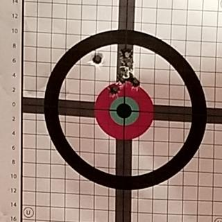 First 9 rounds on target at 75 yards