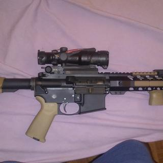 trijicon is on the Colt again and a DD fixed rear and romeo5 with a larue 751 qd mount