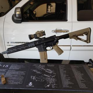 """Primary Arms 10.5"""" 5.56 upper and scope. PSA complete lower."""