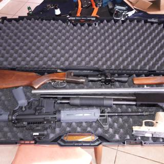 Gun case packed full to go shoot with friends.
