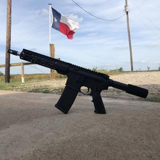 Completed pistol, .223 wylde stainless psa upper