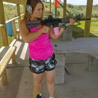Petit lady at local range