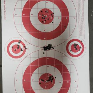 Center group was the last group after fouling a clean bore @50 yards out of a psa .22lr upper