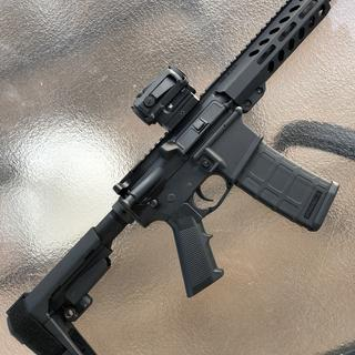The only part I've upgraded is the the pistol grip to Magpul. The rest of this is PSA, very happy.