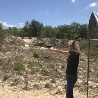 My wife firing for the 1st time. She loved the size and easybif operation.