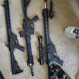 Here is a picture of my PSA AR9 lower with a Foxtrot Mike upper along with  My PSA AR15 and AR 10.