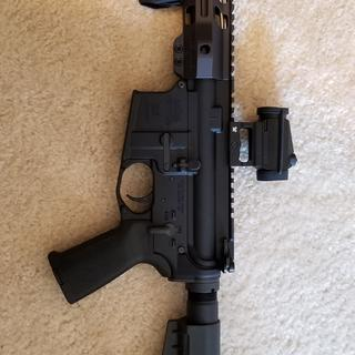 """8.5"""" 300 AAC Blackout pistol w/Crossfire Red Dot and AFG."""