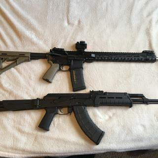 My two PSA rifles! The PSAK47 Gen 2 is my favorite of the two.