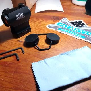 Optic, Hex Wrenches, Microfiber Cloth, and Lens Cover