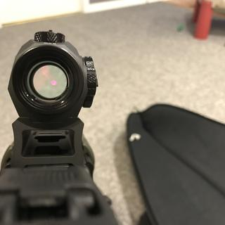 Co-witness is perfect with MBUS sights