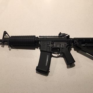 """11.5"""" all PSA build with Yeet Cannon lower and SBA4. Matech rear sight."""