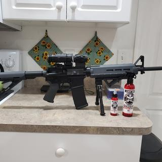 My 5.56 with Sig Sauer Romeo 5 optic and UTG 3x magnifier.
