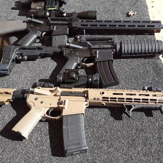 """PSA parts kits in all 3 of my AP builds, 2 with PSA SBA3 kits, 18"""" Aero w/ PSA 2 Stage NiB trigger👌"""