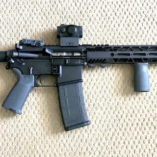 PSA lower with grey magpul furniture.