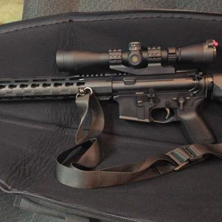 STR lower kit with 18 inch stainless upper and nickel bcg.