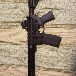 PSA M-Lokal Freedom upper and PSA Freedom lower.   I did change the stock to a aftermarket