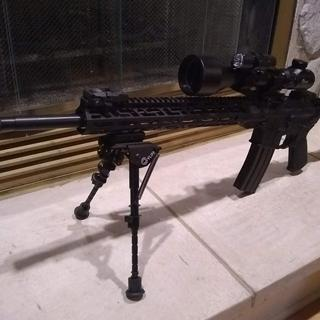 """20"""" barrel with a CVLife 3-9 56mm scope and bi-pod with Magpul MOE furniture."""