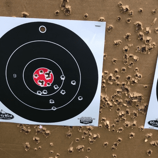 """""""Cheap no good wolf ammo"""" 50 yard zero total of 20 rounds."""