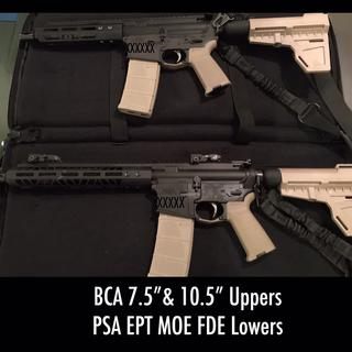 """BCA 10.5"""" & 7.5"""" Uppers and PSA Pistol Lowers.  A Great fit, look & functionality."""