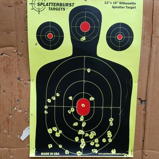 Initial grouping Winchester M22 10 yards