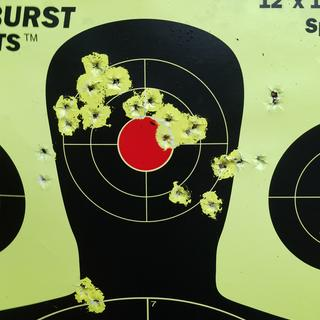 After about 200 rounds Winchester M22 25 yards
