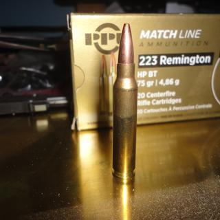 75gr PRVI Partizan .223 Match Hollow Point boat Tail ammunition