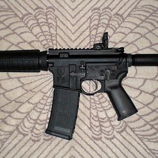 "PSA 10.5"" Pistol kit assembled on a Spikes Crusader lower"