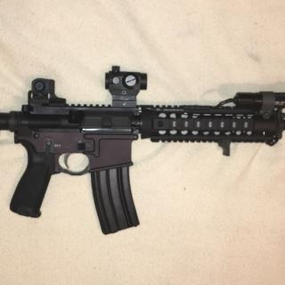 """16"""" Nitride Freedom upper with Midwest Industries Gen 2 Drop-In Handguard, UTG Pro rear sight. A+!"""
