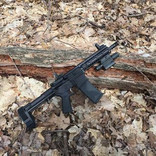 """PSA AR-15 """"Stealth"""" stripped lower built into a pistol in 300 AAC."""