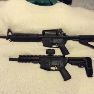 PSA rifle with PSA pistol