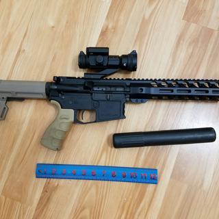 300 BLK pistol with AAC Cyclone, Vortex strike fire II.