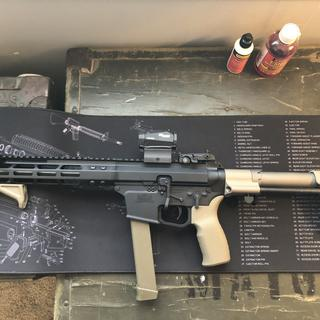 """Foxtrot Mike 9"""" upper and a PSA lower."""
