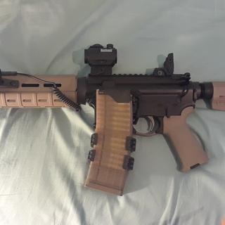 """OAL as shown: 25.875"""" Bushnell TRS-25 w/ Magpul BUIS"""