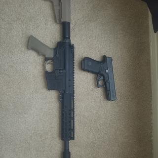 PSA pistol lower (don't mind the glock)