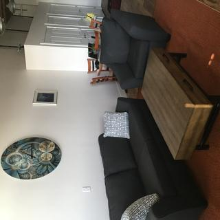Sofa with accompanying chair. Also have Pier & Beam Coffee Table. Fabulous look.
