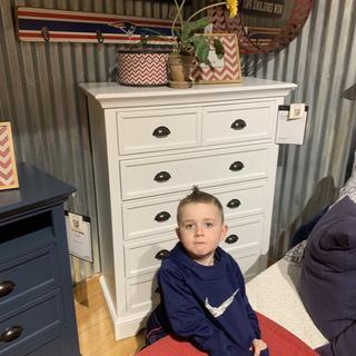 Owen loves his new bureau