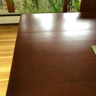 Uneven surface of table top