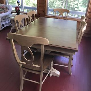 New dining table in our 3 season porch