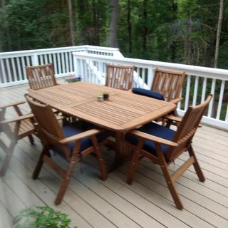 Our new deck furniture
