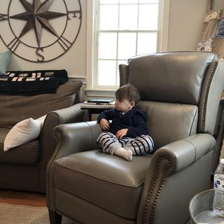 Even the baby loves the chair!