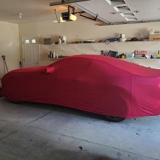 Covercraft Red Custom Fit Car Covers Fleeced Satin FS12310F3