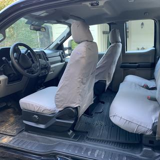 Polycotton Fabric Covercraft Custom-Fit Front Bucket SeatSaver Seat Covers Charcoal Black SS2391PCCH