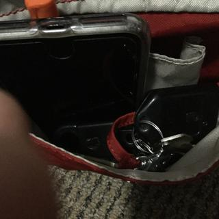 Exterior front pocket cannot easily accommodate larger iPhone and a lot of keys.