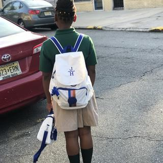 My daughter on her 1st day of school.